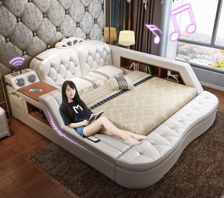Design Bed Kopen.The Ultimate Bed With Integrated Massage Chair Speakers And Desk