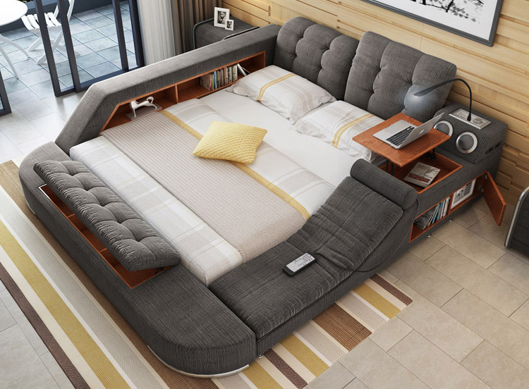 The Ultimate Bed With Integrated Massage Chair, Speakers ...