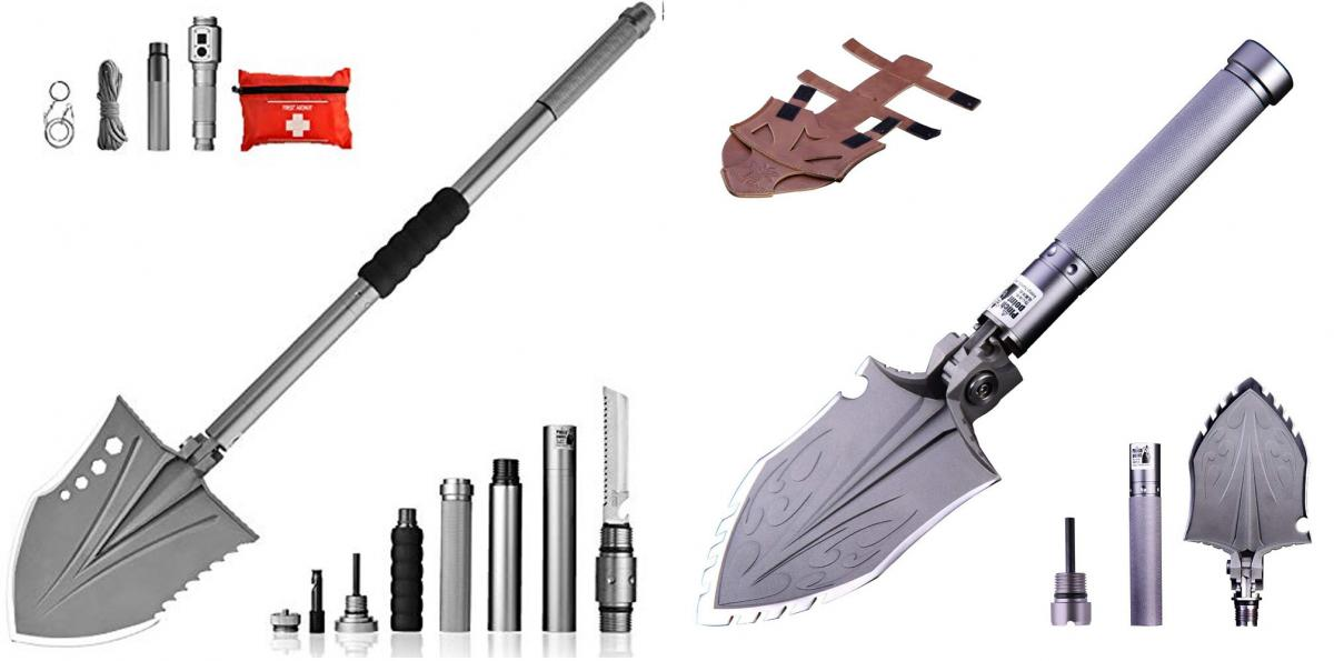 1 Multi-Purpose Pala pieghevole Tattico Militare Ultimate Survival Tool 23-in