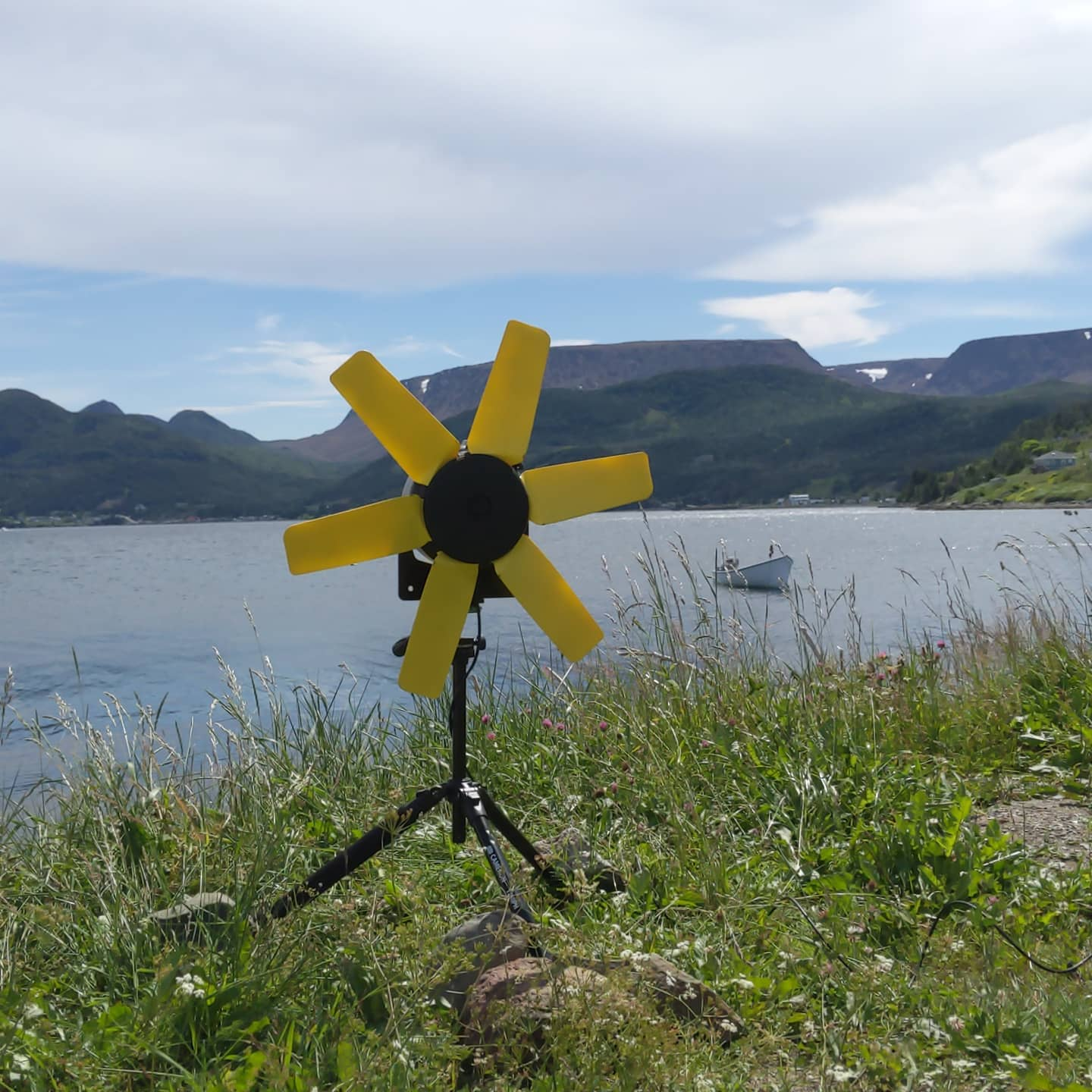 Waterlily water turbine - Off-grid wind and water turbine