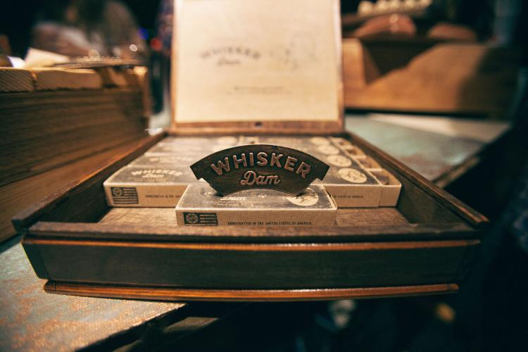 Whisker Dam Keeps Your Mustache Dry While Drinking