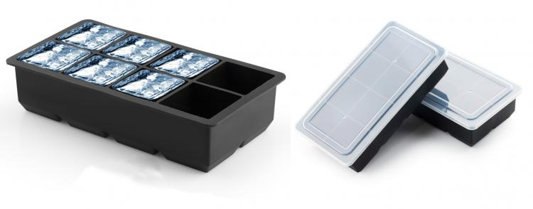 Giant Cubed shape Ice cube tray with lid - covered ice maker tray to prevent spilling water