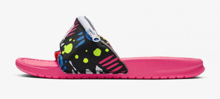 Nike Benassi JDI Fanny Pack Slides - Fanny pack sandals with zipper pocket
