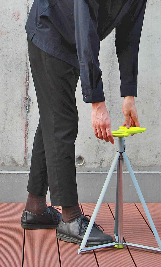 There Is A Cane That Turns Into A Tripod Stool For The