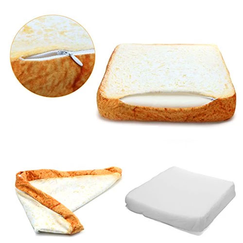Sliced Bread Pillow - Toast bread cat bed