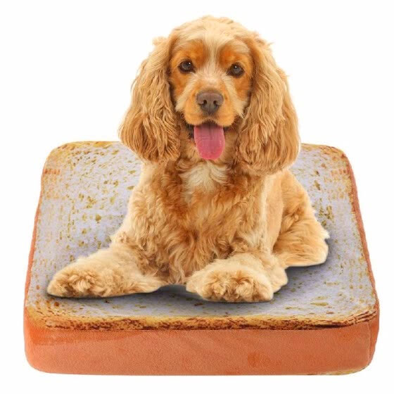Sliced Bread Pillow - Toast bread dog bed