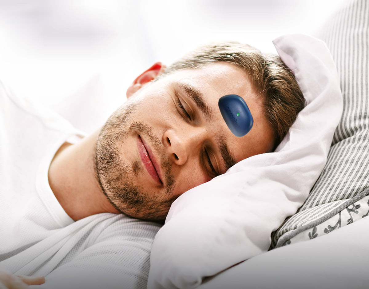 Somnibel Snoring Stopper - Forehead sticking zapping machine stops snoring and sleep apnea