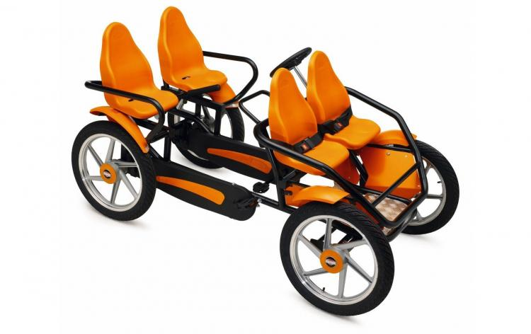 Berg GranTour 4-person bicycle - Family bicycle go-kart with steering wheel