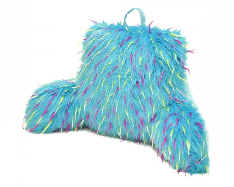 Blue Furry Bedrest Lounge Pillow That Looks Like Sully From Monsters Inc - Sully Blue Furry Pillow - RIP Sulley