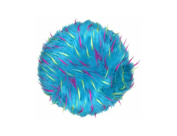 Blue Furry Round Pillow That Looks Like Sully From Monsters Inc - Sully Blue Furry Pillow - RIP Sulley