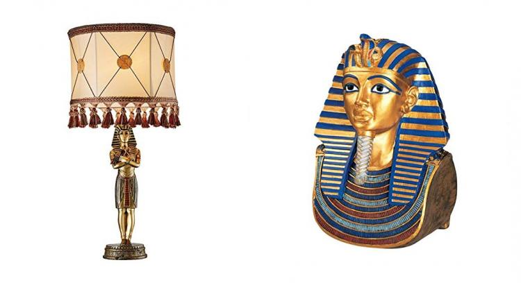 King Tut Lamp - King Tut Golden Mask Sculpture