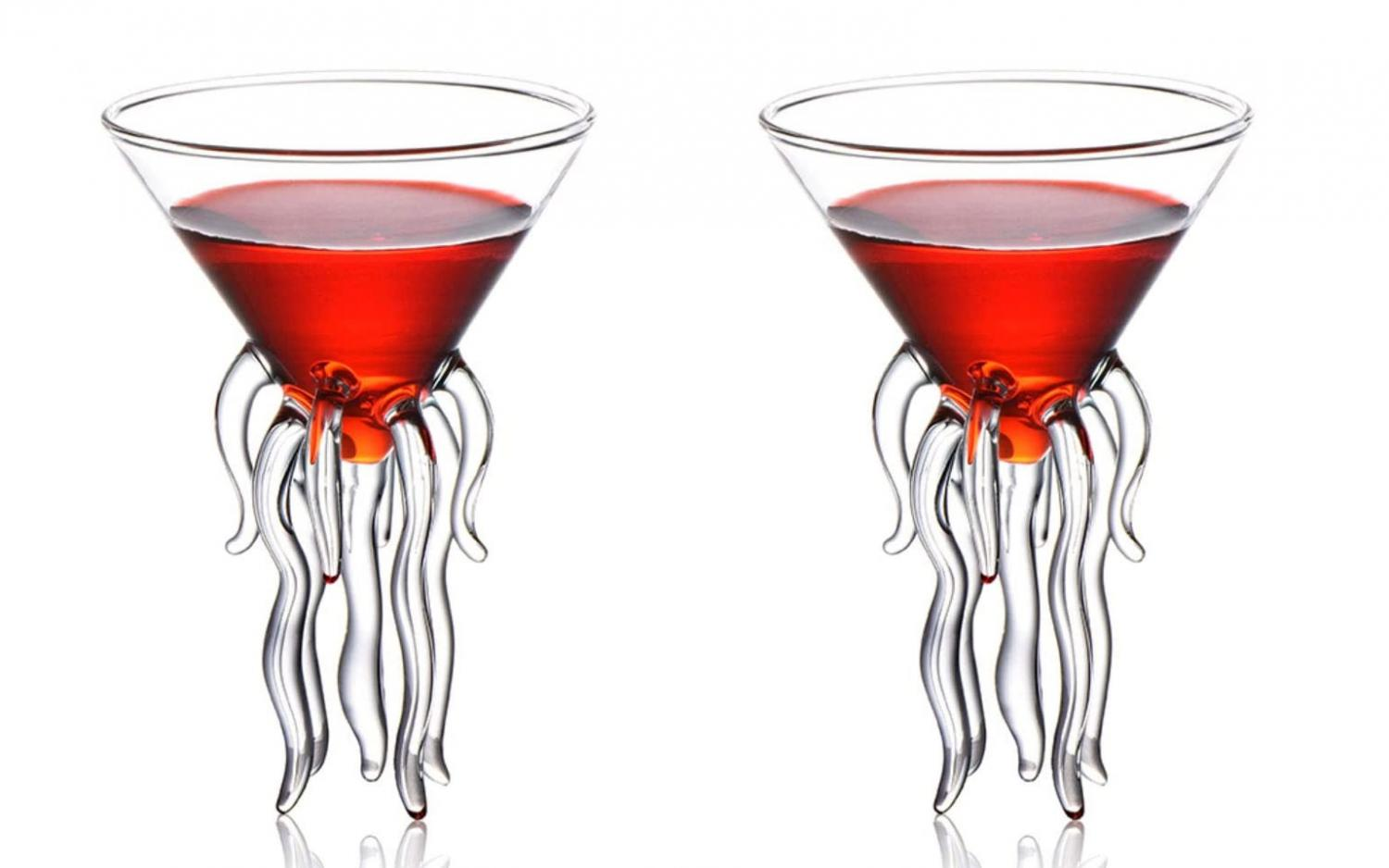 Jellyfish martini glasses - Cocktail Glasses Made To Look Like a Jellyfish/octopus