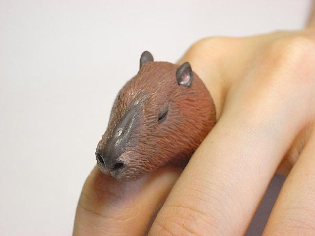 Cute Animal Rings Hug Your Fingers - Guinea Pig