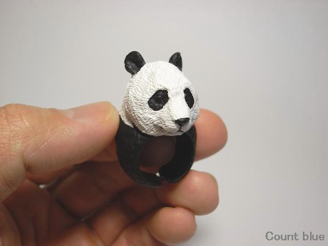 Cute Animal Rings Hug Your Fingers - Panda Bear