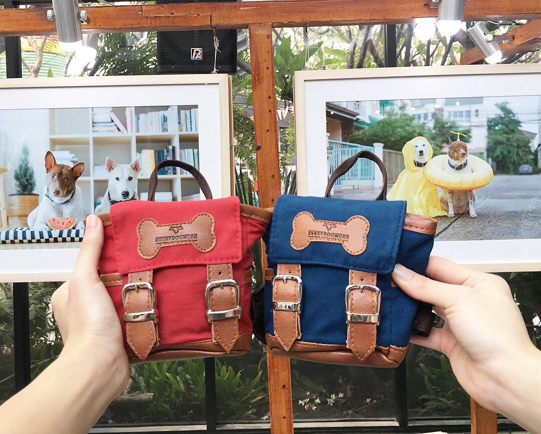 Cute Little Doggie Backpack - Mini canvas dog backpack lets them hold their puppies on their back