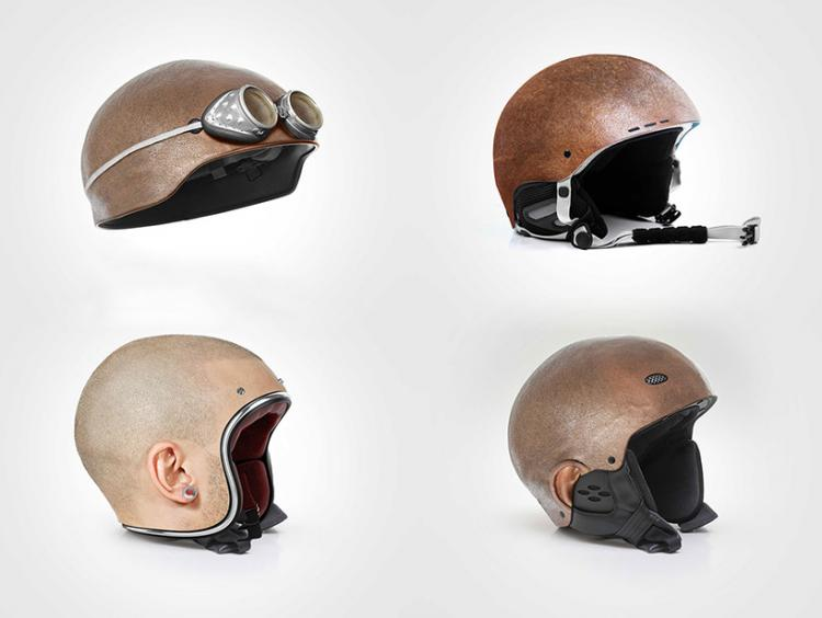Human Head Motorcycle Helmets