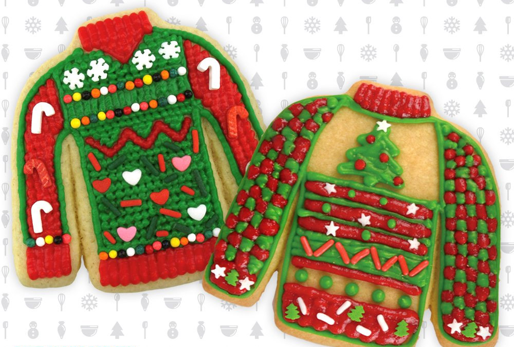 Ugly Sweater Cookie Cutters - Funny Ugly Christmas Sweater Gingerbread Cookie Cutter Kit