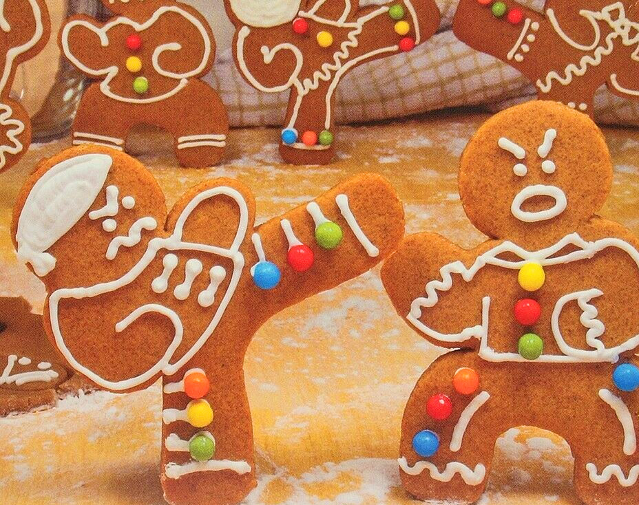 Ninjabread Cookie Cutters - Fighting Ninjas Funny Gingerbread Cookie Cutter Kit