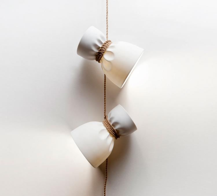 Crumpled Paper Bags - Rope Too Tight Pendant Lamps