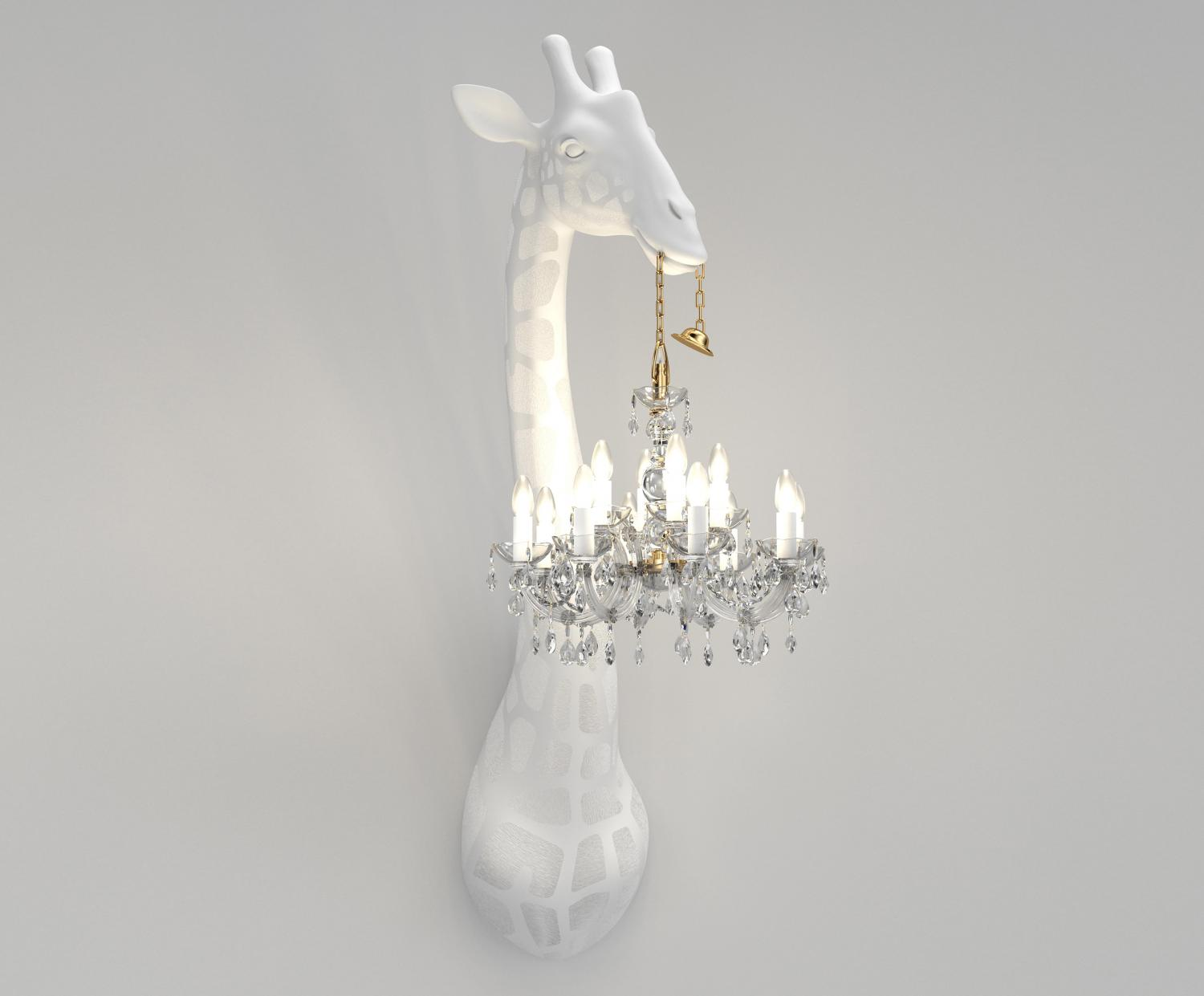 Giant Giraffe Chandelier - Wall mounted giraffe lamp