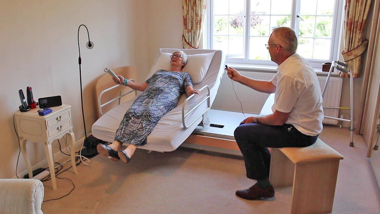 Rotoflex Automatic Rotating Bed Helps Those In Need Easily Get In and Out Of Bed