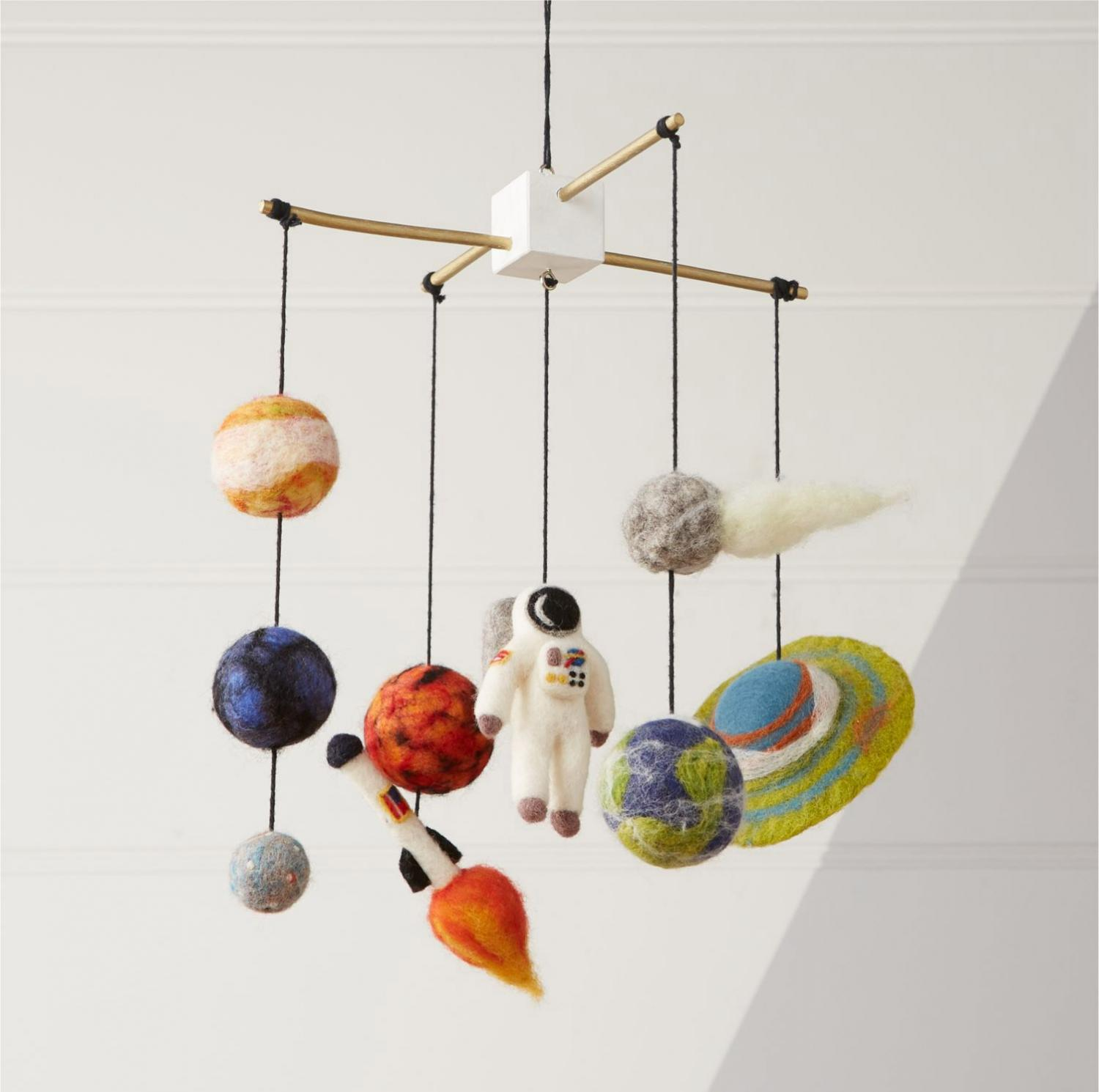 Deep Space Crib Mobile - Helps babies and kids learn about space