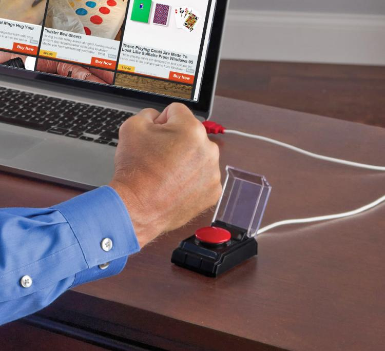 USB Emergency Big Red Button - Office Stress Reliever
