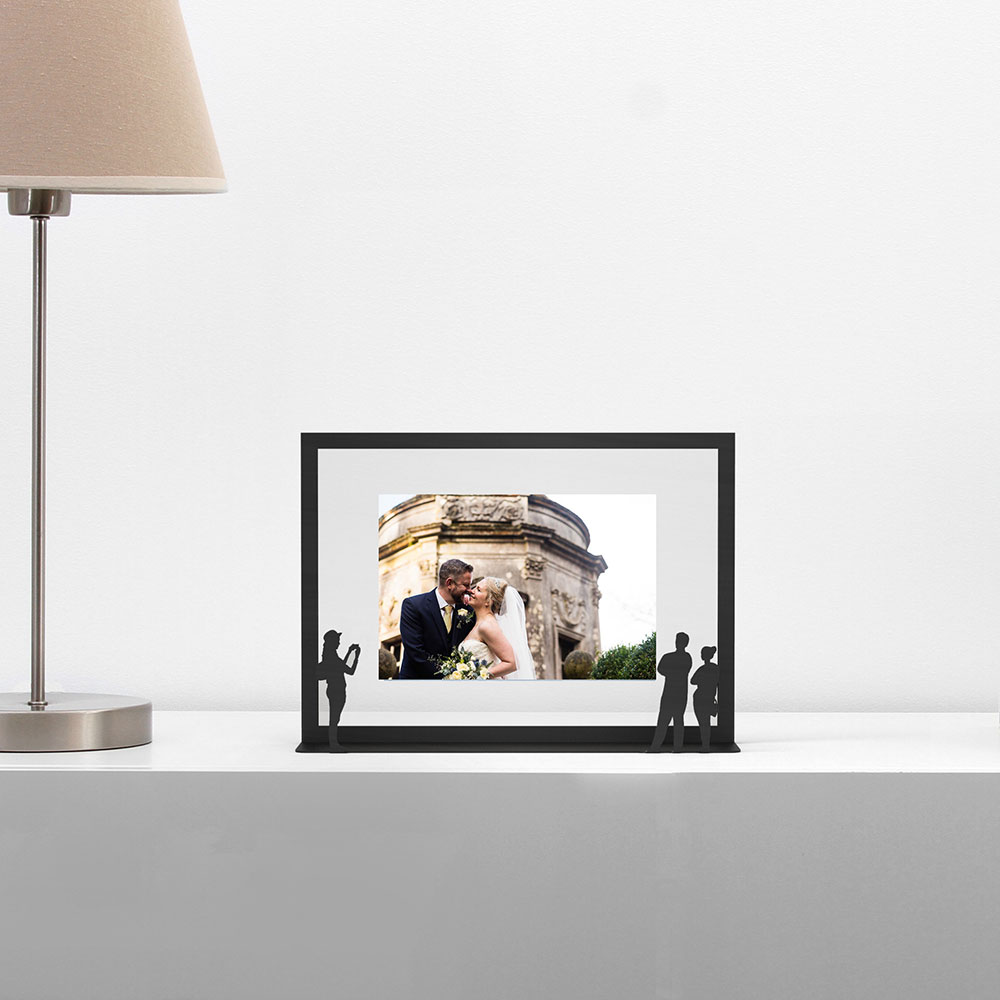 Work of Art Picture Frame - Unique design picture frame turns your picture into an art gallery/museum piece