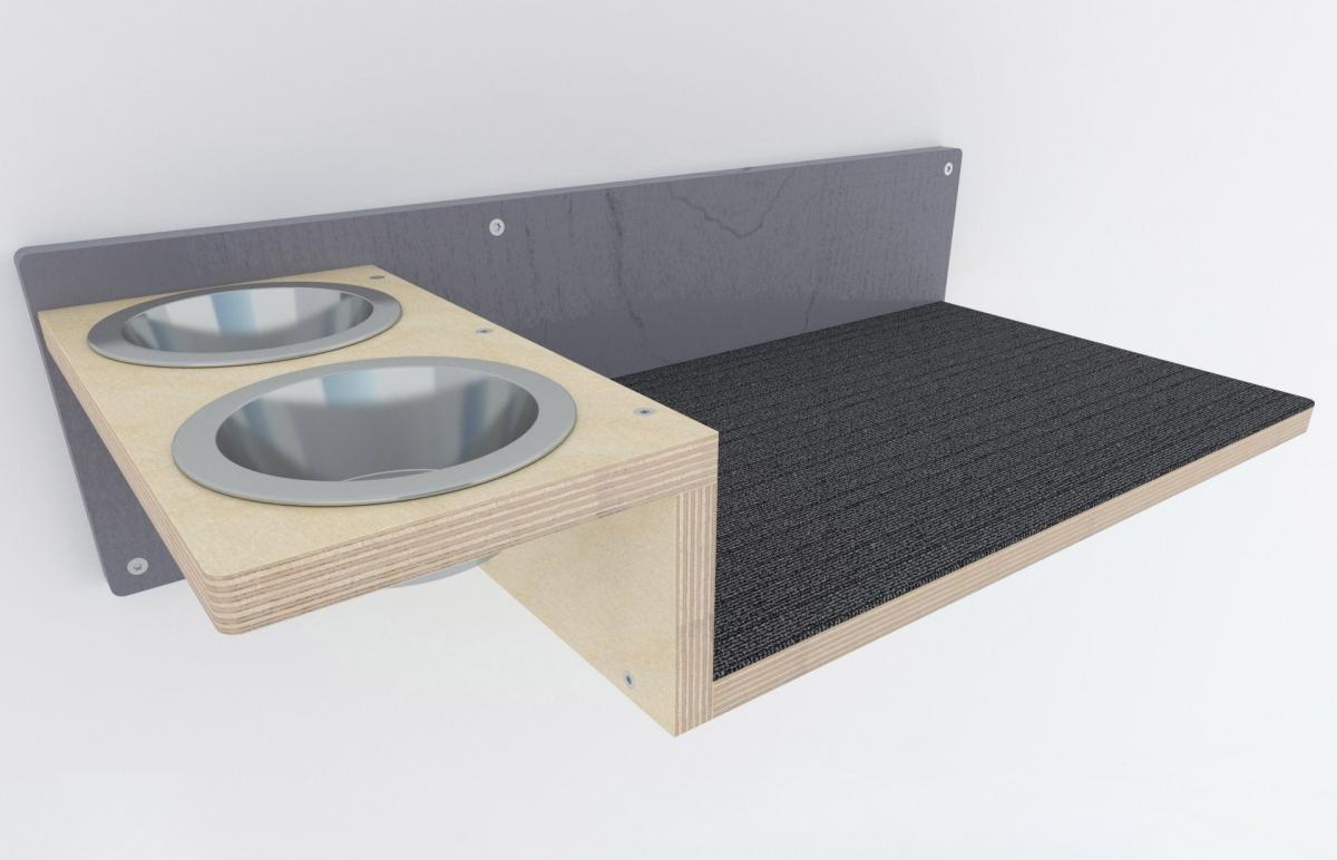 This Wall Mounted Cat Feeder Saves Space In Smaller Homes And Apartments