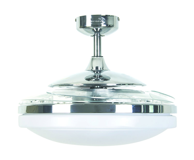 This ceiling fan has retractable blades when not in use - Hunter fanaway ...
