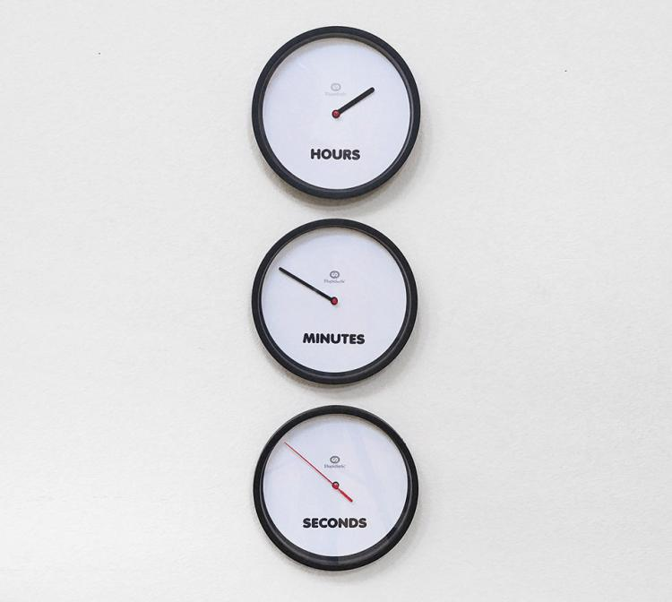 Three Times Clock With Separate Clocks