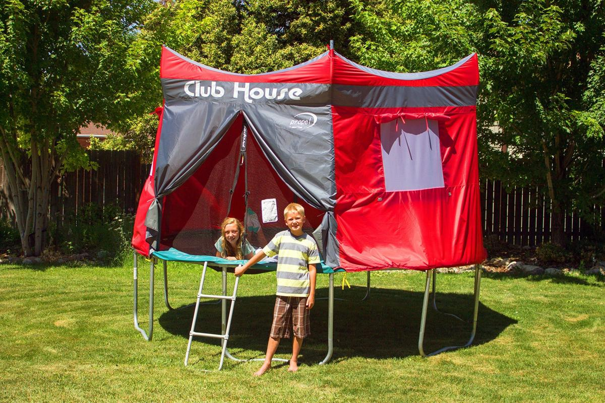 Clubhouse Trampoline Cover Tent - Propel Giant trampoline tent cover kids fort