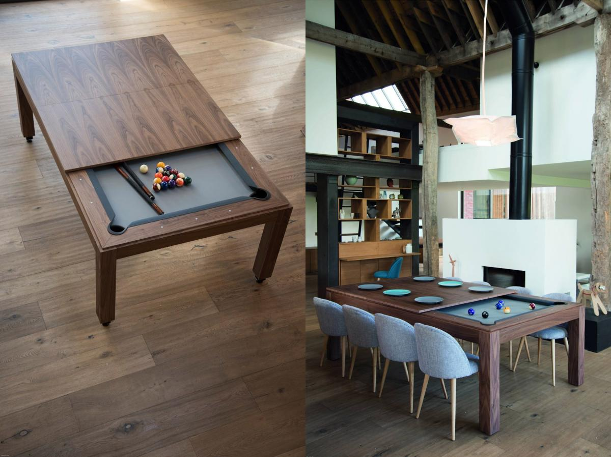Fusion Pool Table - Multi-function dining table pool table - Incredible design unique billiard table