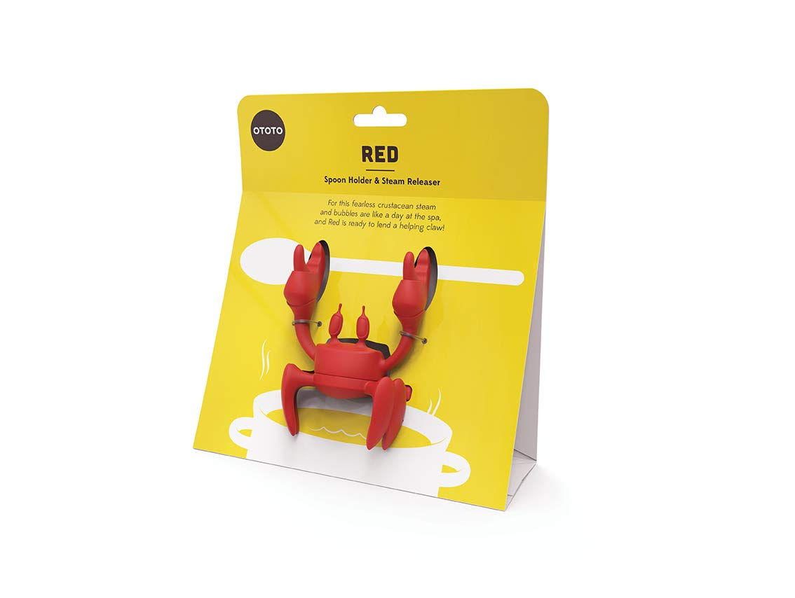 Crab cooking spoon holder - spinning crab shaped spoon holder and steam releaser