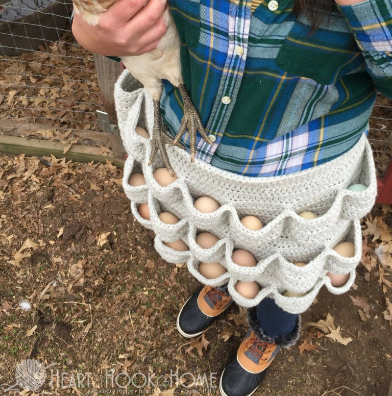 Crochet Egg Apron - Pattern to knit your own crochet egg apron