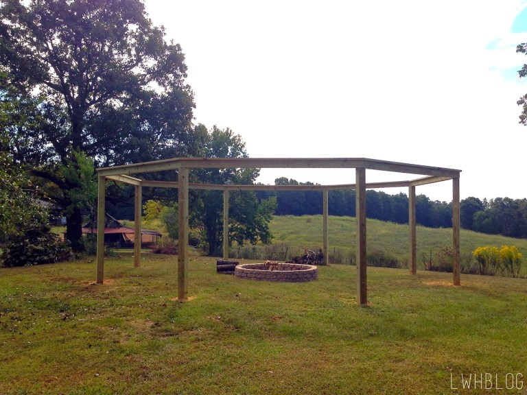 DIY Backyard Pergola With Swings - Wooden Fire Pit Pergola With Swings