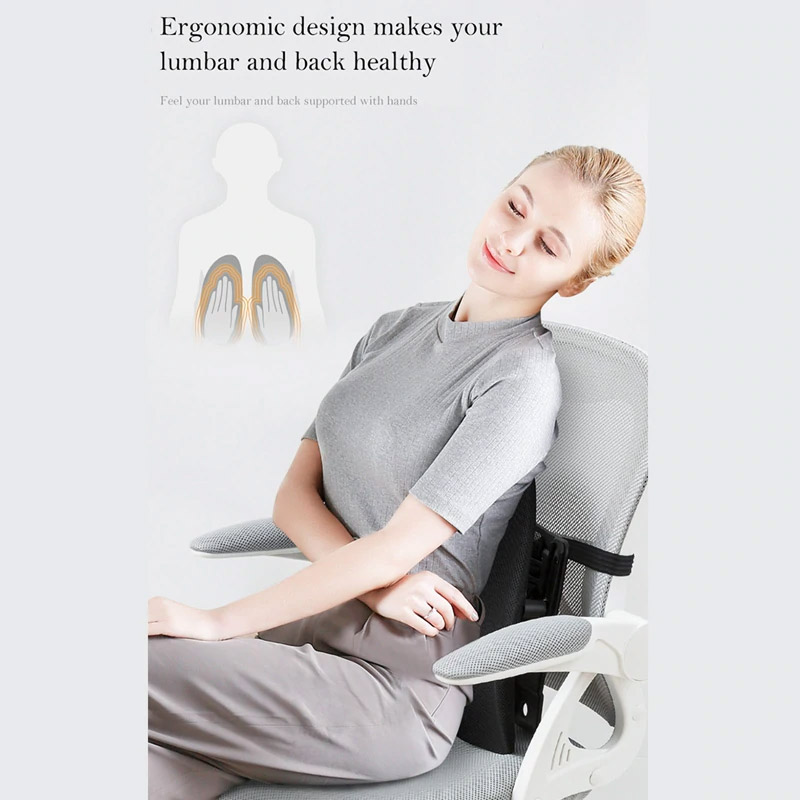 Double-Winged Back Support For The Car - Adjustable Driving lumbar support looks like lungs