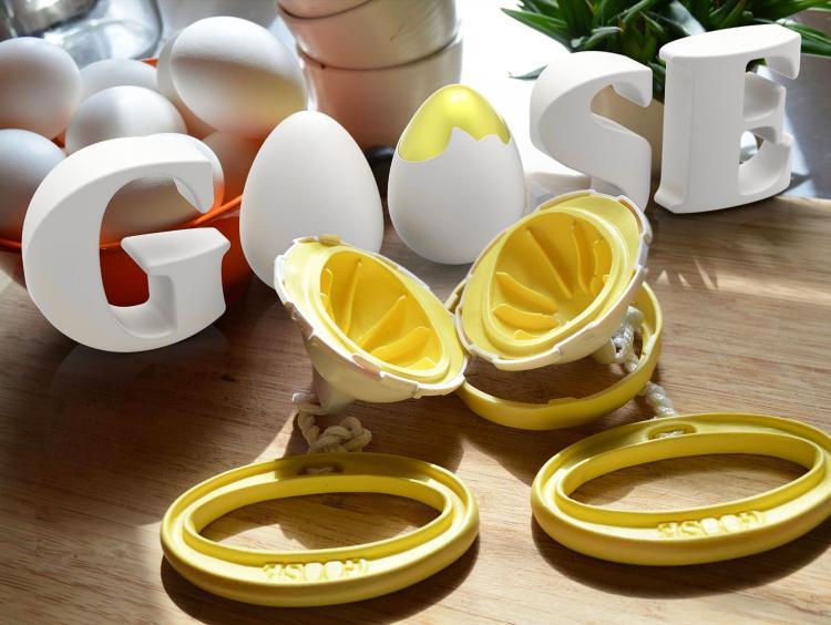 Egg Spinner Scrambles Egg Inside Shell To Create Golden Eggs Golden Goose Eggs