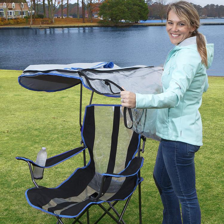 Canopy Chair With a Water/rain Shield - Kelsyus Original Canopy Chair with Rain Protection - Folding camping chair