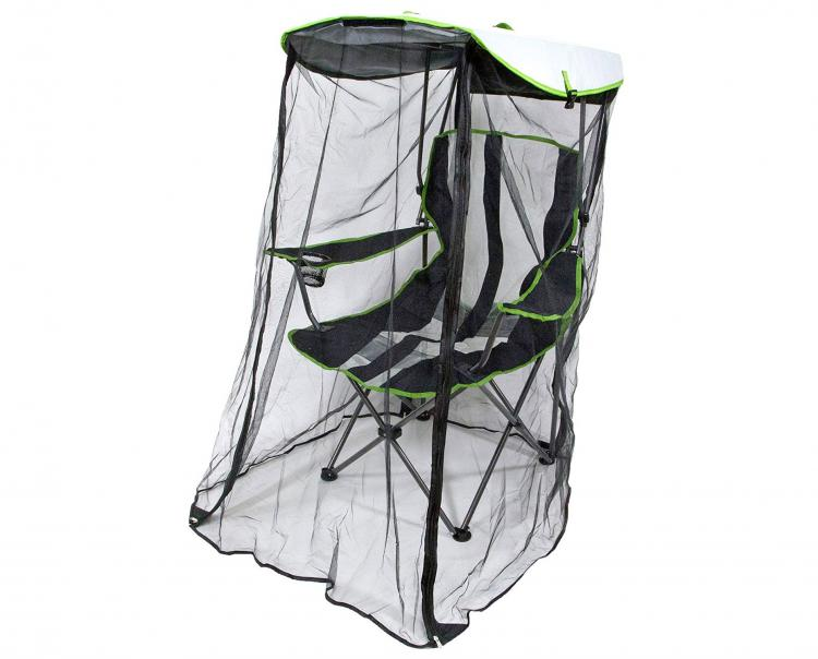 Canopy Chair With a Screen Protects You From The Sun and Mosquitoes - Kelsyus Original Canopy Chair with Bug Guard - Folding camping chair