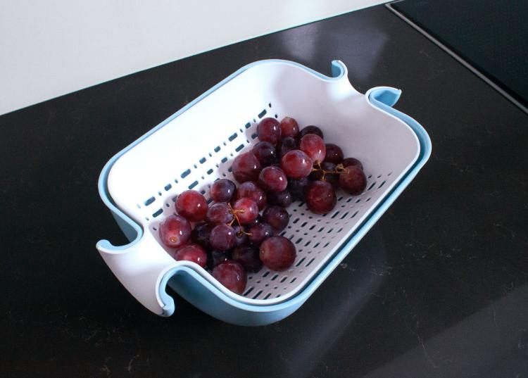 Self-Balancing Colander - Equilibric automatic balancing colander bowl - 3-in-1 colander