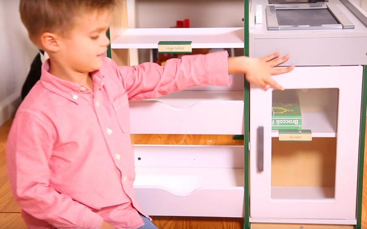 Grocery Store Role Play Toy Lets Your Kid Become a Cashier - Fresh Mart Cashier Pretend Kids Toy
