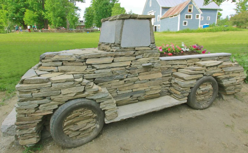 Guy Makes Vintage Cars and Trucks Out Of Rocks - Chris Miller Stone Truck Project