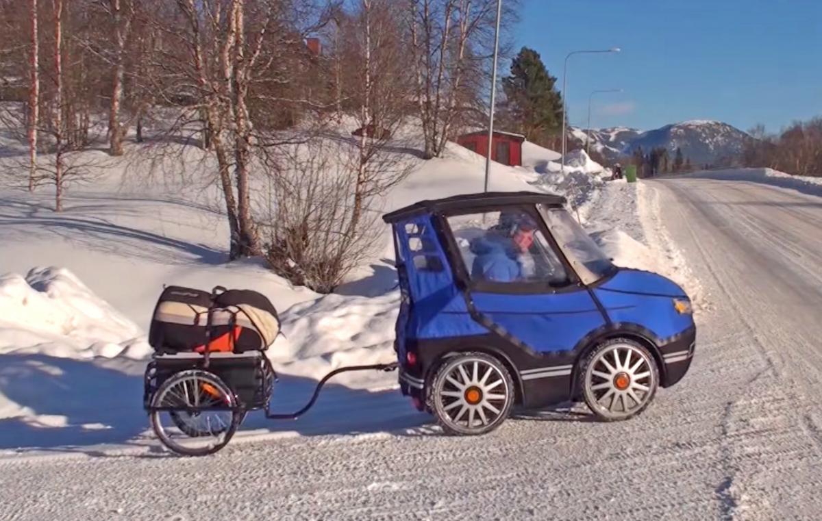 PodRide Bicycle Car - Enclosed E-Bike Car That Keeps You Warm During Winter Transit