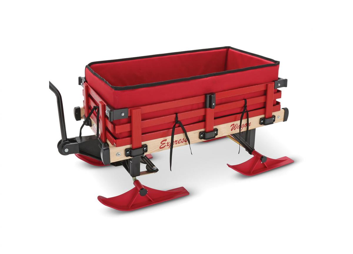 Red Wagon That Turns Into a Snow Sleigh - Radio Flyer Rolling Wagon Snow Sled