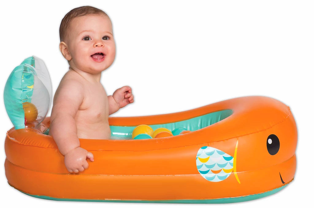 Inflatable Whale Baby Bathtub