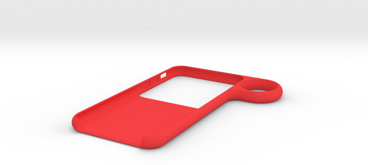 iphone ring case - red