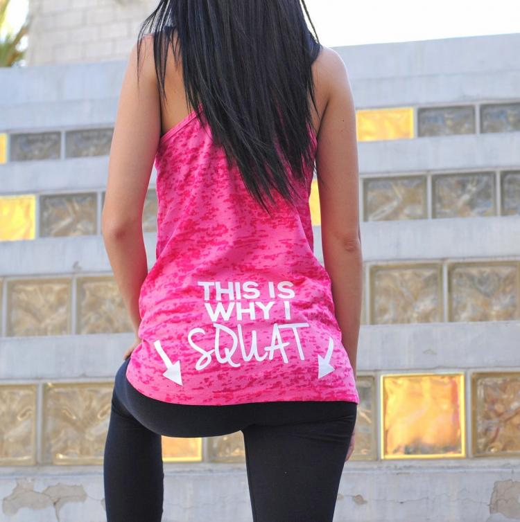 This Is Why I Squat Arrows Pointing To Butt - Women's Workout Shirt