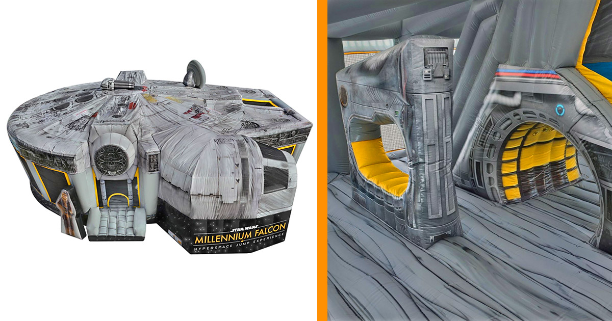 Millennium Falcon bouncy house