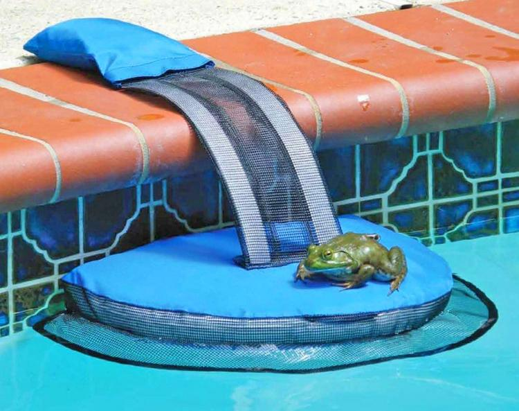 FrogLog Mini Pool Ramp - Frog Log Small critter animals pool ramp helps them to safety